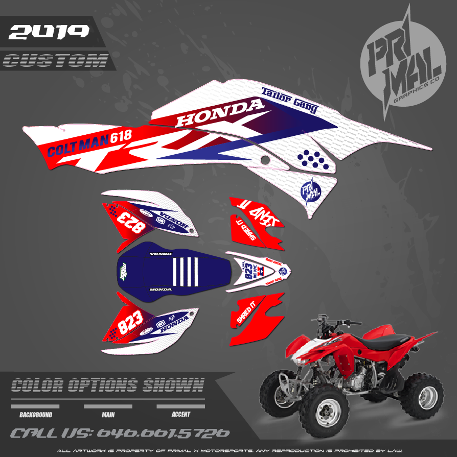HONDA 400EX MOTOCROSS GRAPHICS ATV MX GRAPHICS PRIMAL X MOTORSPORTS PRIMAL GFX CO BIKELIFE - Copy