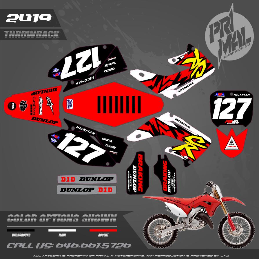 HONDA CR125 250  MOTOCROSS GRAPHICS ATV MX GRAPHICS PRIMAL X MOTORSPORTS PRIMAL GFX Mcgrath 1996