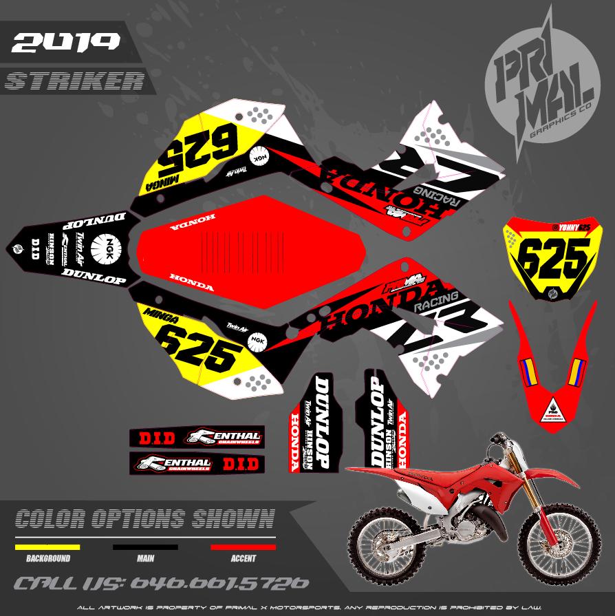 HONDA CR125 CR250 RESTYLED PLASTICS MOTOCROSS GRAPHICS ATV MX GRAPHICS PRIMAL X MOTORSPORTS PRIMAL GFX CO BIKELIFE