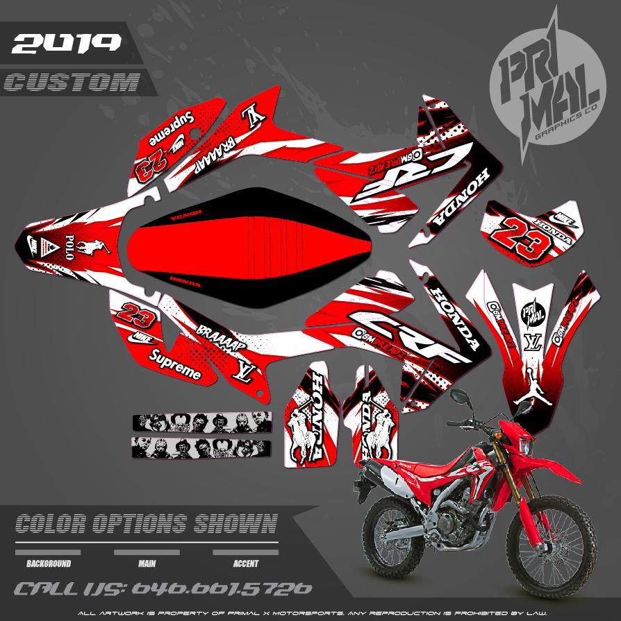 HONDA CRF250L MOTOCROSS GRAPHICS ATV MX GRAPHICS PRIMAL X MOTORSPORTS PRIMAL GFX BIKELIFE