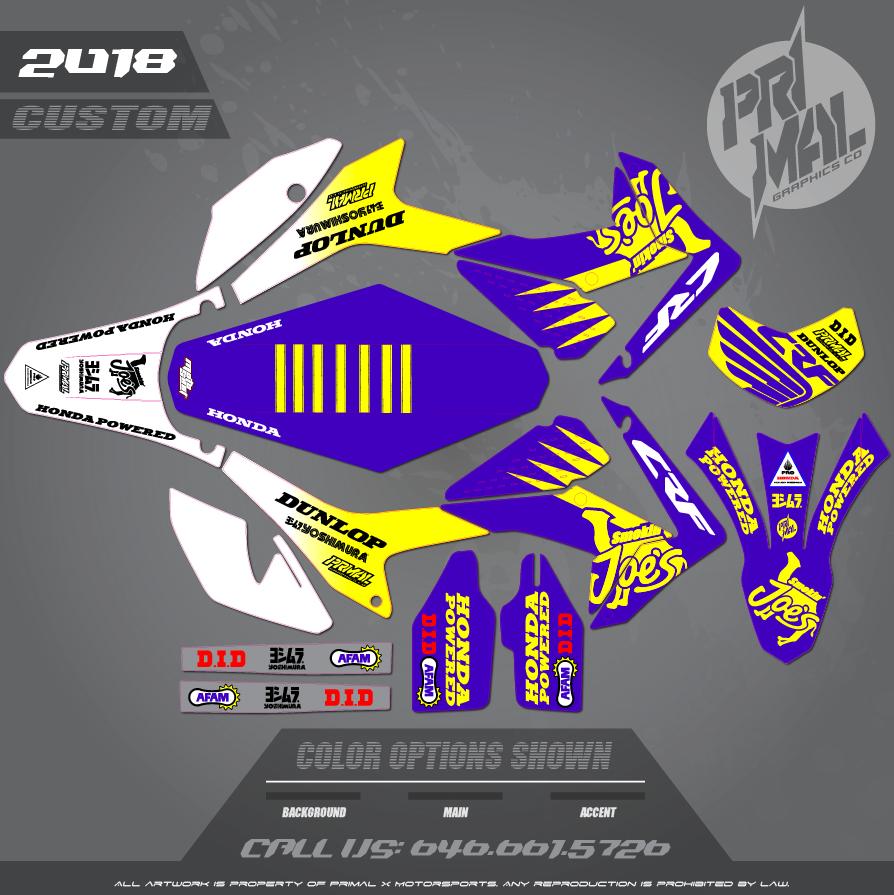 HONDA CRF250L SMOKIN JOES MOTOCROSS GRAPHICS ATV MX GRAPHICS PRIMAL X MOTORSPORTS