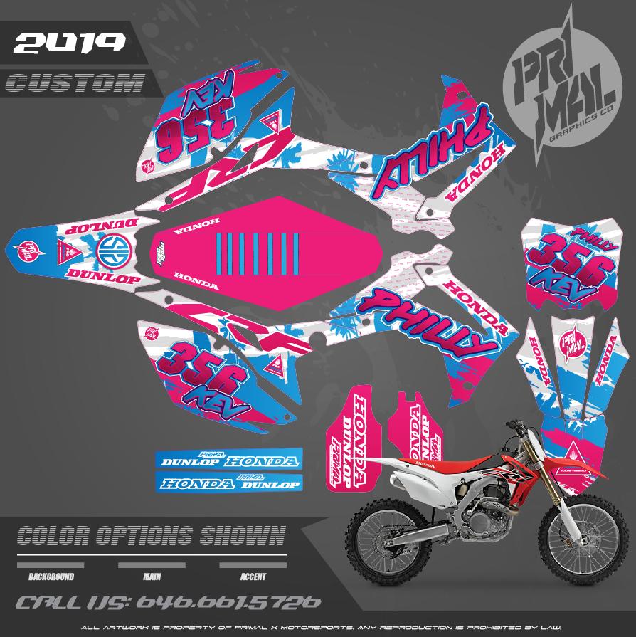 HONDA CRF450R  MOTOCROSS GRAPHICS ATV MX GRAPHICS PRIMAL X MOTORSPORTS PRIMAL GFX BIKELIFE PHILLY