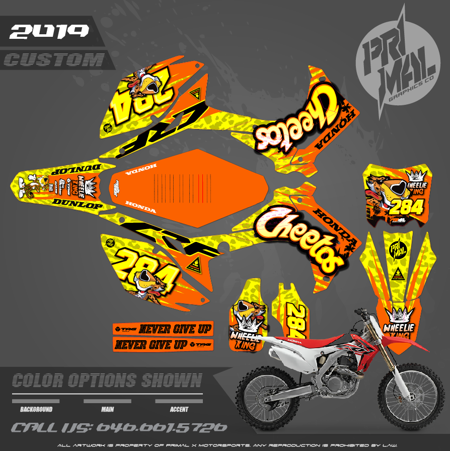 HONDA CRF450R MOTOCROSS GRAPHICS ATV MX GRAPHICS PRIMAL X MOTORSPORTS PRIMAL GFX CO BIKELIFE