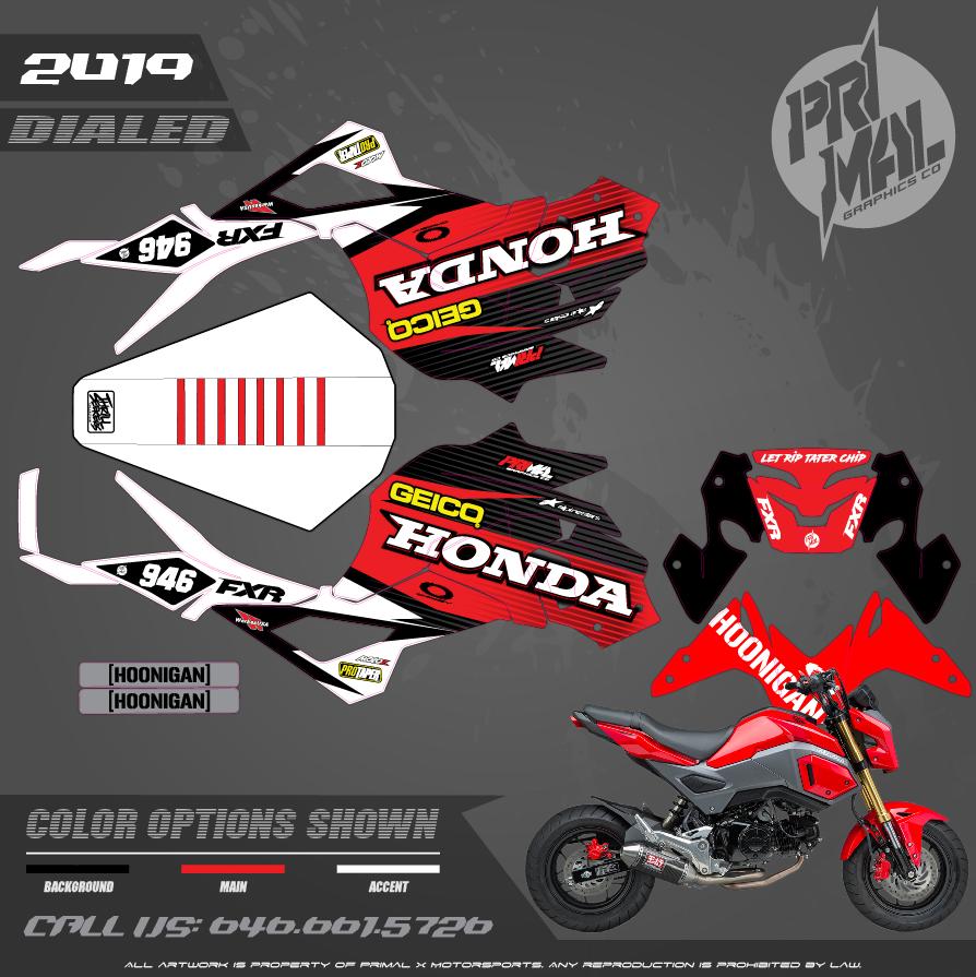 HONDA GROM MOTOCROSS GRAPHICS ATV MX GRAPHICS PRIMAL X MOTORSPORTS PRIMAL GFX