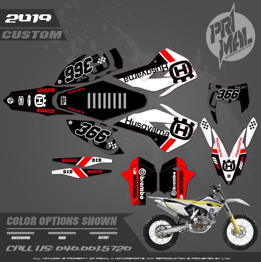 HUSQVARNA FE 350 FC450 MOTOCROSS GRAPHICS ATV MX GRAPHICS PRIMAL X MOTORSPORTS PRIMAL GFX CO BIKELIFE