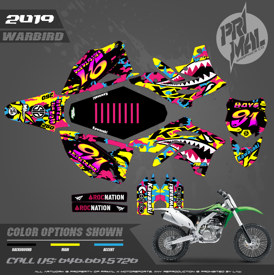 KAWASAKI KX250F MOTOCROSS GRAPHICS ATV MX GRAPHICS PRIMAL X MOTORSPORTS PRIMAL GFX CO BIKELIFE