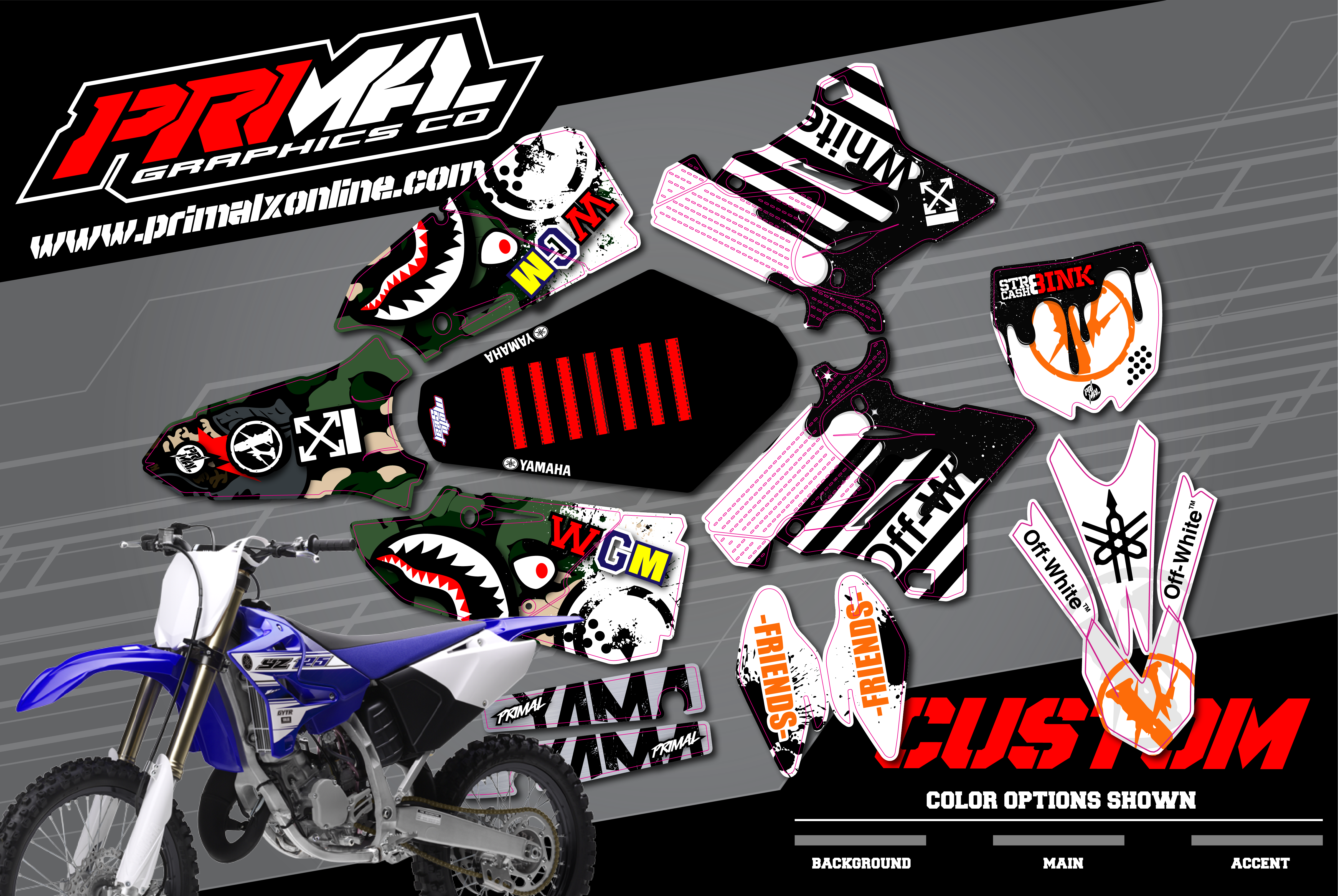 PRIMAL-X-MOTORSPORTS-PRIMAL-GRAPHICS-CO-SUZUKI-DRZ400SM-SUPERMOTO-MOTOCROSS-GRAPHICS-BIKELIFE-CHARMCITY-VLONE-OFFWHITE-APE-01