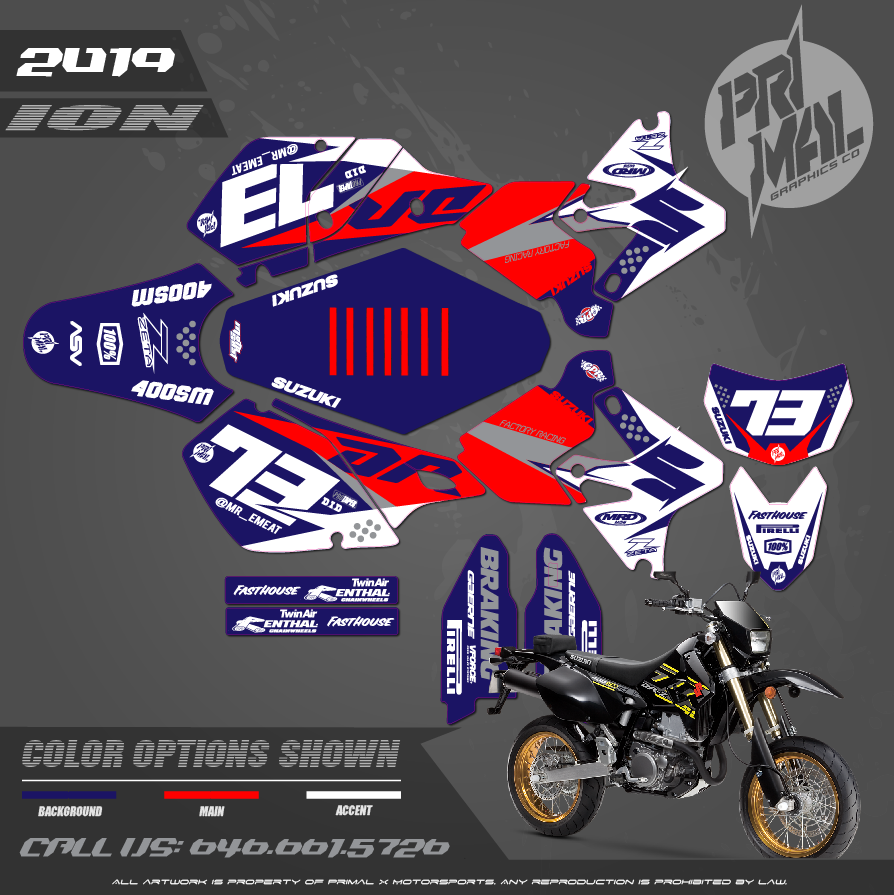 SUZUKI DRZ400SM MOTOCROSS GRAPHICS ATV MX GRAPHICS PRIMAL X MOTORSPORTS PRIMAL GFX BIKELIFE PHILADELPHIA JM