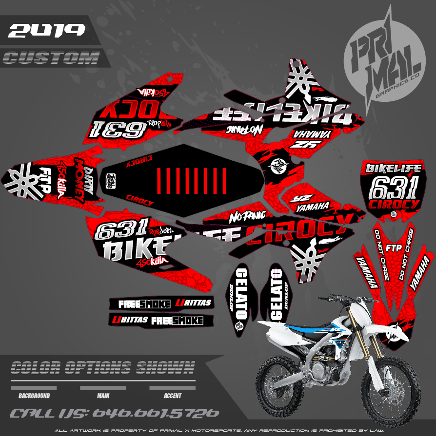 YAMAH YZ450F BIKE LIFE CIROCY SERIES MOTOCROSS GRAPHICS ATV MX GRAPHICS PRIMAL X MOTORSPORTS PRIMAL GFX CO BIKELIFE