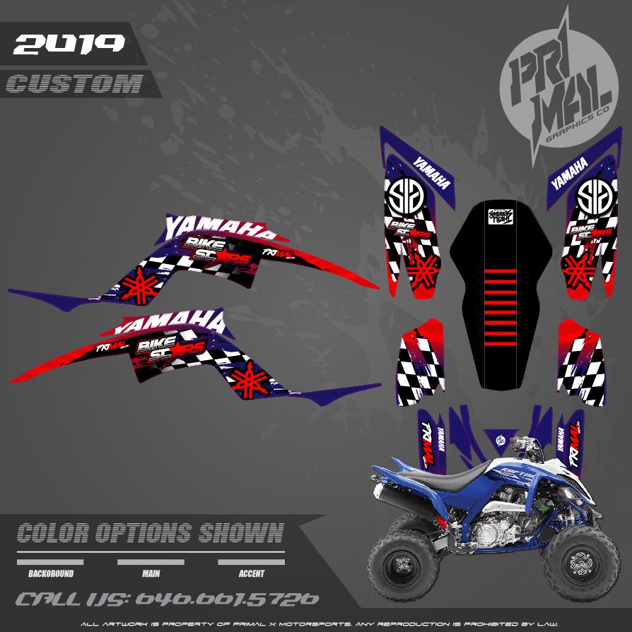 YAMAHA RAPTOR 700 MOTOCROSS GRAPHICS ATV MX GRAPHICS PRIMAL X MOTORSPORTS PRIMAL GFX BIKELIFE retro2