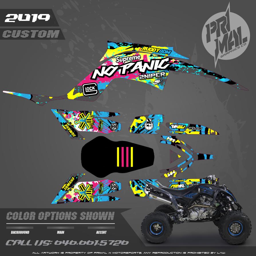 YAMAHA RAPTOR 700 MOTOCROSS GRAPHICS ATV MX GRAPHICS PRIMAL X MOTORSPORTS PRIMAL GFX BIKELIFE