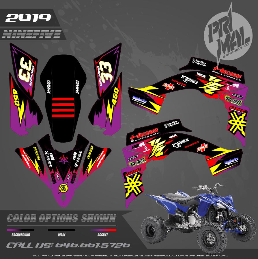 YAMAHA YFZ450 MOTOCROSS GRAPHICS ATV MX GRAPHICS PRIMAL X MOTORSPORTS PRIMAL GFX BIKELIFE