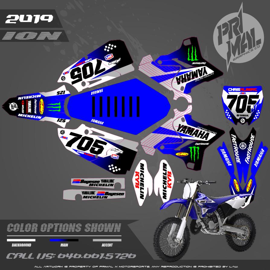 YAMAHA YZ125 YZ250 MOTOCROSS GRAPHICS ATV MX GRAPHICS PRIMAL X MOTORSPORTS PRIMAL GFX BIKELIFE