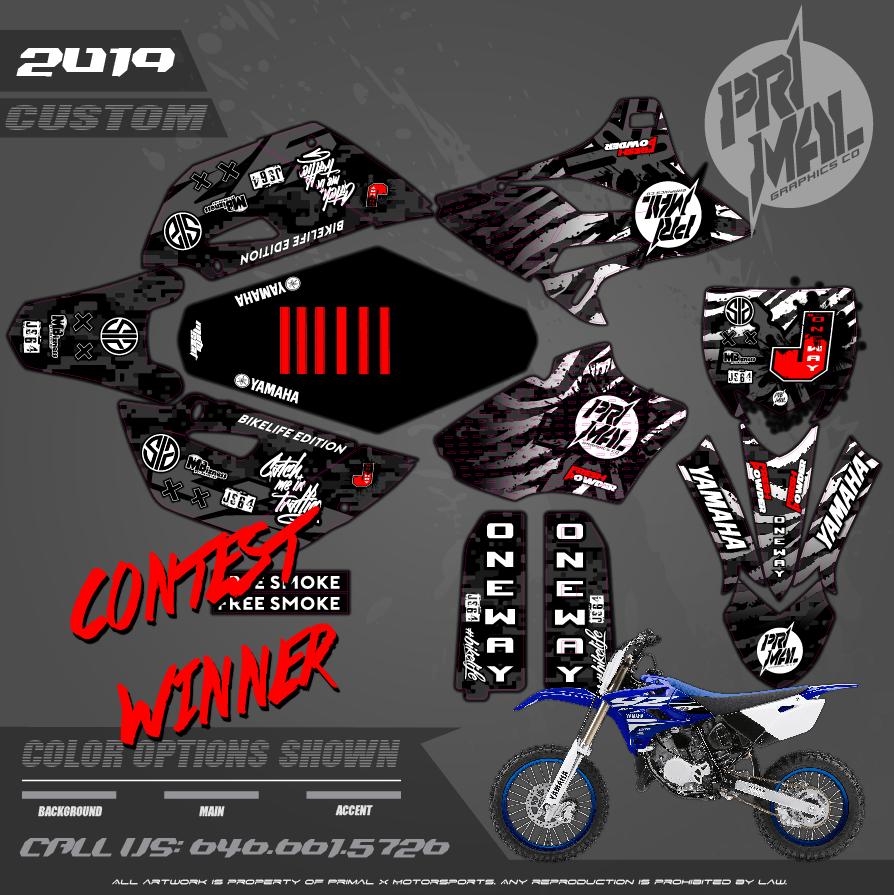 YAMAHA yz85  CUSTOM MOTOCROSS GRAPHICS ATV MX GRAPHICS PRIMAL X MOTORSPORTS PRIMAL GFX CO BIKELIFE