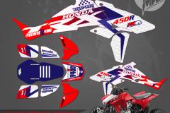 HONDA TRX450R ATV GRAPHICS  PRIMAL X MOTORSPORTS CUSTOM MOTOCROSS GRAPHICS MX GRAPHICS