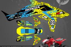 HONDA TRX450R MOTOCROSS GRAPHICS ATV MX GRAPHICS PRIMAL X MOTORSPORTS PRIMAL GFX CO BIKELIFE DUPREE MGBL