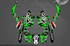 KAWASAKI KFX50 CUSTOM MOTOCROSS GRAPHICS ATV MX GRAPHICS PRIMAL X MOTORSPORTS WARBIRD 2