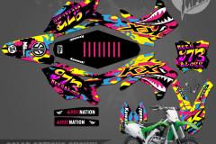 KAWASAKI KX450F MOTOCROSS GRAPHICS ATV MX GRAPHICS PRIMAL X MOTORSPORTS PRIMAL GFX BIKELIFE retro2