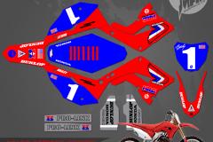 POLISPORT RESTYLED DAVID BAILEY REPLICA PRIMAL X MOTORSPORTS CUSTOM MOTOCROSS GRAPHICS MX GRAPHICS