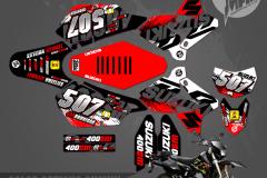SUZUKI DRZ400SM CUSTOM MOTOCROSS GRAPHICS ATV MX GRAPHICS PRIMAL X MOTORSPORTS SHRED