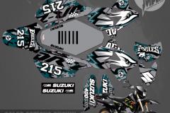 SUZUKI DRZ400SM EAGLES CUSTOM MOTOCROSS GRAPHICS ATV MX GRAPHICS PRIMAL X MOTORSPORTS BIKELIFE