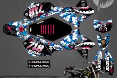 SUZUKI DRZ400SM MOTOCROSS GRAPHICS ATV MX GRAPHICS PRIMAL X MOTORSPORTS PRIMAL GFX BIKELIFE PHILADELPHIA APE SERIES