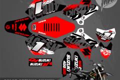 SUZUKI DRZ400SM SERIES MOTOCROSS GRAPHICS ATV MX GRAPHICS PRIMAL X MOTORSPORTS PRIMAL GFX CO BIKELIFE