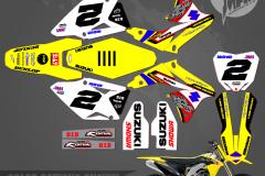 SUZUKI RMZ450 MCGRATH CUSTOM MOTOCROSS GRAPHICS ATV MX GRAPHICS PRIMAL X MOTORSPORTS PRIMAL GFX CO BIKELIFE