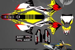 SUZUKI RMZ450 TECH NINE MOTOCROSS GRAPHICS ATV MX GRAPHICS PRIMAL X MOTORSPORTS PRIMAL GFX BIKELIFE