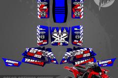 YAMAHA BANSHEE PRIMAL X MOTORSPORTS CUSTOM MOTOCROSS GRAPHICS MX GRAPHICS BIKELIFE 914