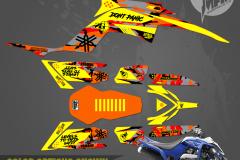 YAMAHA RAPTOR 700 ATV GRAPHICS  PRIMAL X MOTORSPORTS CUSTOM MOTOCROSS GRAPHICS MX GRAPHICS MIAMI BIKELIFE