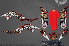 YAMAHA RAPTOR 700 BOONDOCKS SERIES MOTOCROSS GRAPHICS ATV MX GRAPHICS PRIMAL X MOTORSPORTS PRIMAL GFX CO BIKELIFE