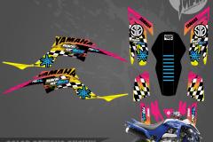 YAMAHA RAPTOR 700 MOTOCROSS GRAPHICS ATV MX GRAPHICS PRIMAL X MOTORSPORTS PRIMAL GFX BIKELIFE retro