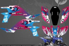 YAMAHA YFZ450F NINE FOUR RETRO MOTOCROSS GRAPHICS ATV MX GRAPHICS PRIMAL X MOTORSPORTS PRIMAL GFX BIKELIFE