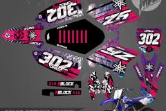 YAMAHA YZ125 YZ250 STREETSTYLE MOTOCROSS GRAPHICS ATV MX GRAPHICS PRIMAL X MOTORSPORTS PRIMAL GFX CO BIKELIFE