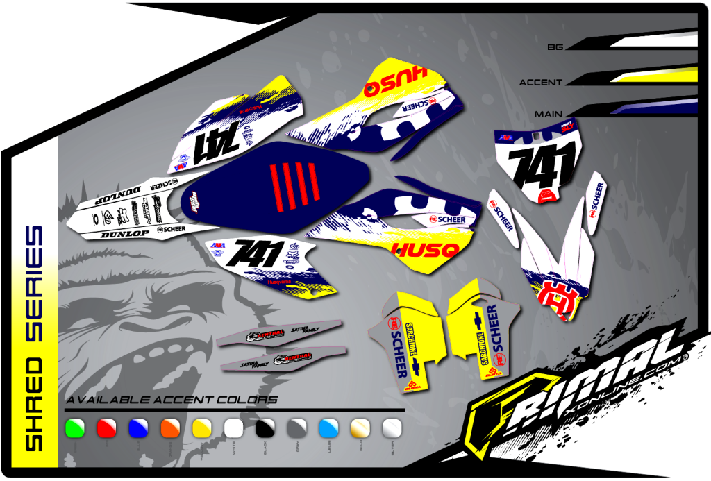 Primal X Motorsports MX Graphics HUSQVARNA SHRED