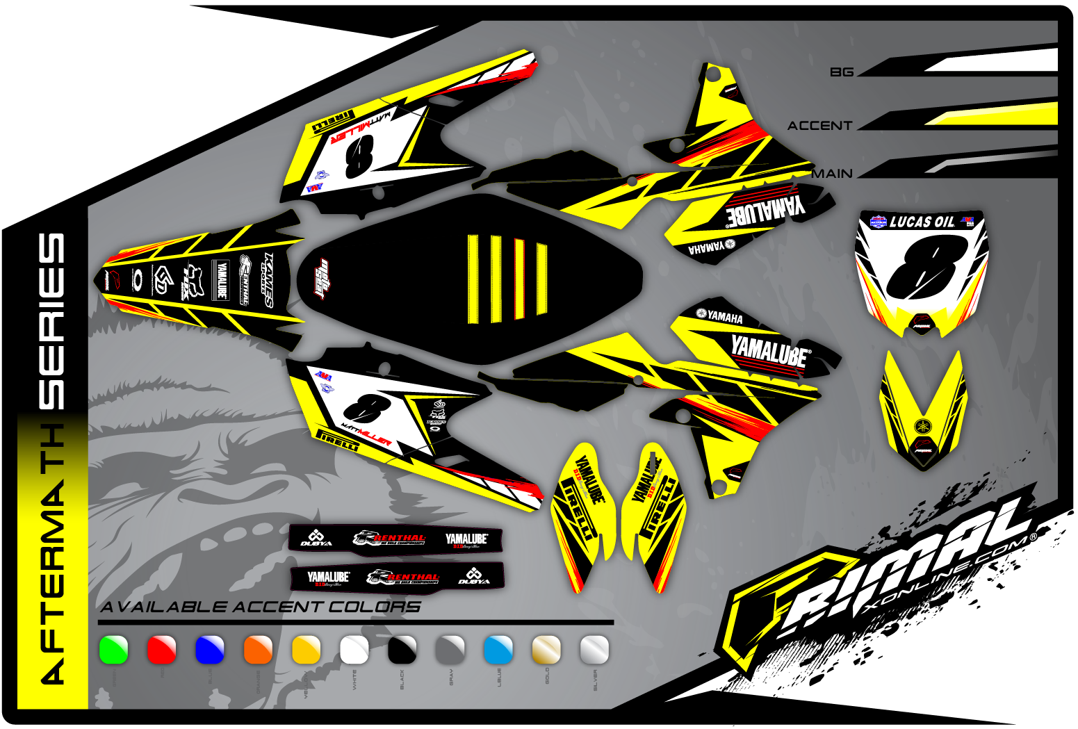 Primal X Motorsports MX Graphics YZF450 250 aftermath series
