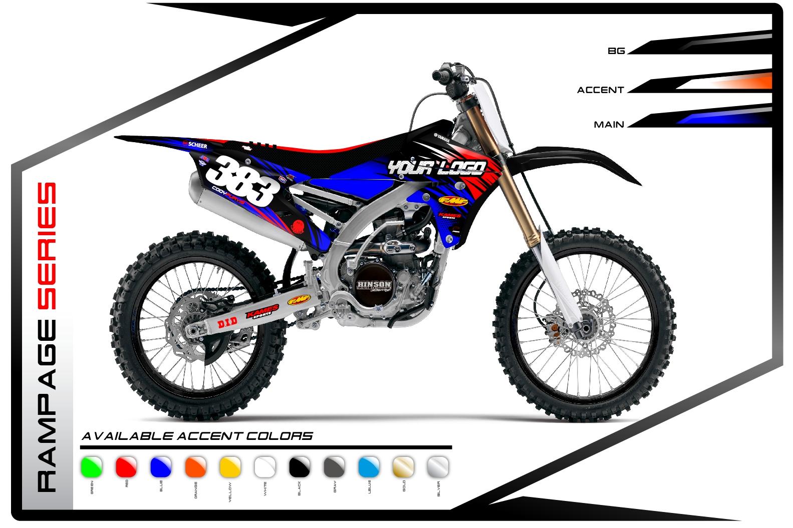 Primal X Motorsports MX Graphics Yamaha Rampage Series
