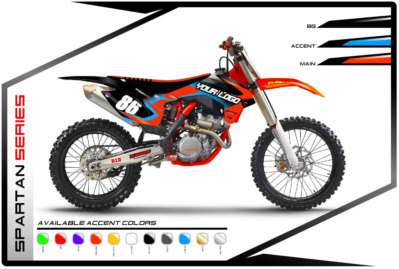 Spartan Series KTM - Motocross Graphics